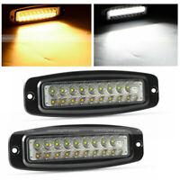 "2x 7"" 180W Flush Mount LED Lights Pods Backup Reverse Rear Bumper Off Road 4WD"