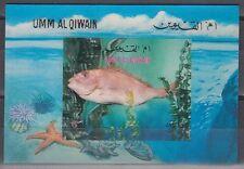 Umm al Qiwain 1972 ** Bl.57 Fische Fish 3D-M/S Block