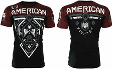 American Fighter Mens S/S T-Shirt FAIRBANKS Black Rusted Red S-3XL $40