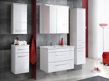 """Badmöbel Set """"ACTIVE 80 cm Weiss"""" Badezimmer mit Waschbecken Badezimmermöbel LED"""