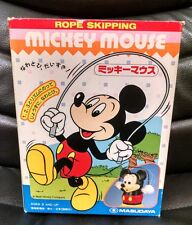 Vintage Rope Skipping Mickey Mouse , Battery Op, Disney MIB!  Japan Writing 1989