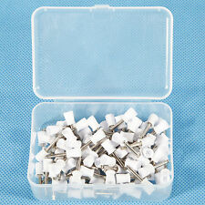 100PCS Dental Prophy Tooth Polish Polishing Cups Webbed Latch Type Rubber White