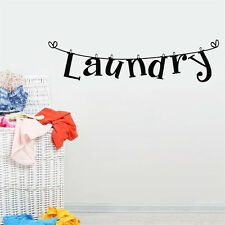 Delicate Laundry Room Wall Sticker Home Decor Popular Vinyl Removable Washhouse