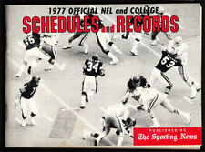 Sporting News 1977 Football Pocket Schedule / Records Vtg Nfl Ncaa Walter Peyton