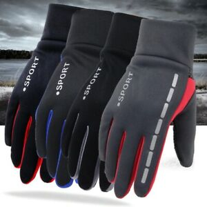 Mens Winter Warm Gloves Therm Anti-Slip Elastic Cuff,Thermal Soft Lining Gloves