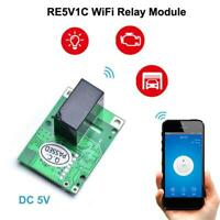 1X SONOFF RE5V1C Wifi DIY Switch 5V DC Relay Module Smart Wireless Switches