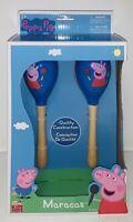 PEPPA PIG Wooden Maracas Toy Musical Instrument - Blue