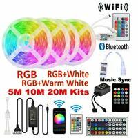 5M-10M RGB RGBW 5050 3528 LED Strip Lights Wifi/Bluetooth Music Sound Control AU
