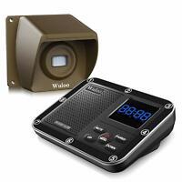1/3 Mile Long Range Wireless Driveway Alarm System Rechargeable Sensor Detectors