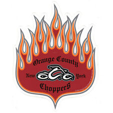 Orange County Choppers OCC Flame Vinyl Decal Sticker 6.5 inch by 8 inch NEW!