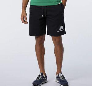 New Balance Stacked Logo Shorts Pantaloni Uomo Nero