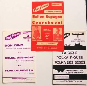 3 Partitions sheet music Paris Succès Courchevel Polka des Bébés ... * Accordéon