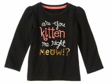 GYMBOREE Black Long Sleeve Top Right  Meow  NWT  SIZE  3T