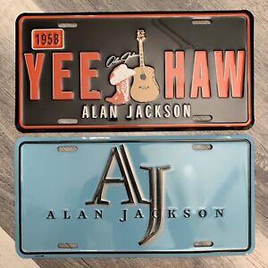 Alan Jackson Vintage License Plates Photo and 2015 Calendar Country Music ⭐️