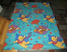 Vintage Winnie The Pooh Twin Comforter Fall Leaves Blustery Day Tigger 90s