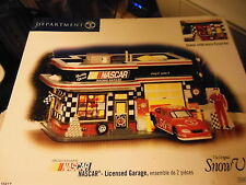 "Dept 56 Snow Village's   ""Nascar licenced Garage""  MIB"