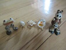 Lot of 5 Vintage Animals Made of Different Seashells from the Virgin Islands