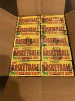 1990 fleer basketball Wax Box BBCE FASC Sealed 03/21.