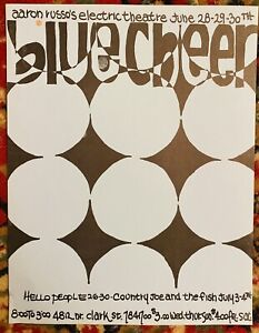 BLUE CHEER COUNTRY JOE ELECTRIC THEATER CHICAGO ILL 1968 Concert Handbill SALE!