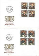 """Liechtenstein FDC der Ausgabe """"Berühmte Gäste in Liechtenstein"""" 1984"""