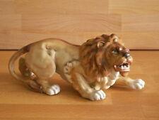 UNCOMMON LATE 19TH CENTURY SITZENDORF PORCELAIN FIGURE OF A SNARLING LION
