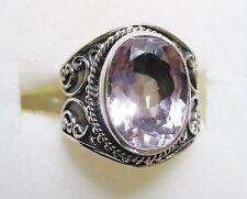 Rose de France Amethyst Artisan Ring in Sterling Silver sz 8 ---  5.25cts, 6.3g
