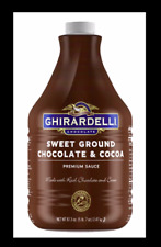 GHIRARDELLI SWEET GROUND CHOCOLATE CREAMY FLAVORING SAUCE 90.4 FL OZ NEW FRESH