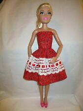Handmade by me Dress to fit  28 the inch tall Fashion Friend doll. OOAK ROSES