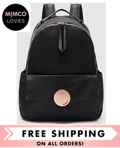 MIMCO WAVER BABY BACKPACK + CHANGE MAT BLACK  ROSE GOLD NEW W/ TAGS  RRP$249