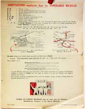 1925   ITINERAIRE MICHELIN  ABREVIATIONS EMPLOYEES   CARTE BIBENDUM