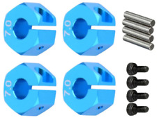 RC Blue Aluminum 7.0 Wheel Hex 12mm Drive + Pins & Screws 4P HSP HPI Tamiya Car