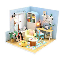 DIY LED Dollhouse Miniature Wooden Furniture Kit 1:24 Scale -Ding Dong Nest