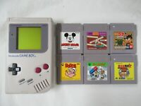 L879 Nintendo Gameboy Console Gray & 6 game Japan GB x