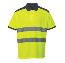 Camisetas de hombre de manga corta color principal azul de poliéster