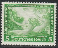 Stamp Germany Mi 501A Sc B51 1933 3rd Reich War Rheingold Richard Wagner MNH