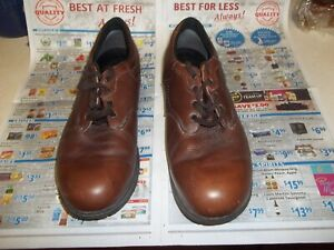 MENS RED WING BROWN LEATHER WORK SHOES SIZE 14 D MADE IN USA OR LOAFERS DRESS