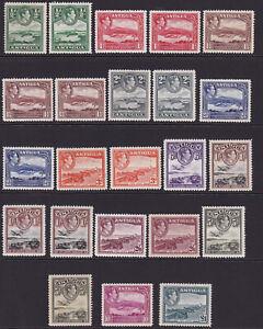 Antigua. 1938-51. SG 98-109, 1/2d to £1 + shades. Fine mint.