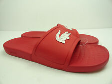 Lacoste Men's Fraisier-318 Red/White Slides Sandals Shoes Size 13