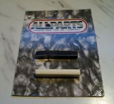 2 pieces slotted nut for Gibson electrics, 1 black graphite, 1 bleached bone