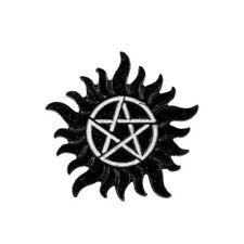 Supernatural Brooch Black Enamel Pentagram Star Badge Brooches Lapel Pin f/ Gift