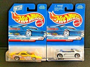 Hot Wheels 2000 First Editions Pro Stock Firebird + Deora II - Unopened