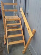 TREPPE mit Treppenabsatz für HOCHBETT  ETAGENBETT Treppenturm Leiter Kiefer