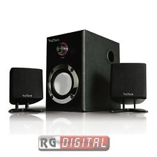 CASSE ACUSTICHE PC 2.1 15W RMS SPEAKER ALTOPARLANTI SUBWOOFER VULTECH SP-2006