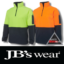 JB's Wear Hi Vis 1/2 Zip Polar Fleece 6HVPF