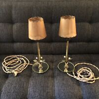 Antique Pair Boudior Lamps, Art Nouveau Boudoir Lamp Pair