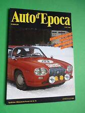 Auto d'Epoca Febbraio 1988 Coppa delle Alpi Bizzarrini 5300 strada GT Cobra Stor