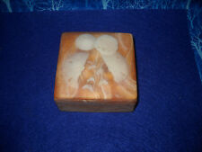 "GORGEOUS STRIATED INCOLAY SANDDOLLAR TRINKET BOX, ""DESIGN GIFTS""  MINT"