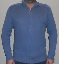 HERREN PULLOVER blau Schön Gr. L EXPLORER SWEATSHIRT Reißverschluss Top Zustand