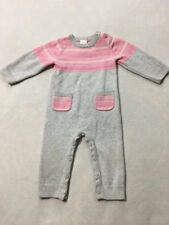Gymboree Hoot & Hop 6 12 Month Gray Pink Sweater Romper One Piece Pockets