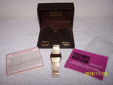 Vtg,1970s BENRUS Sovereign LED 6 FUNCTIONS Wrist Watch with Papers & Box ~ NICE